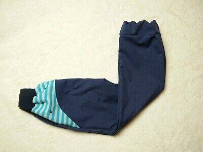 blaumeliert rosa-lila gerades Bein Matschhose handmade Softshellhose