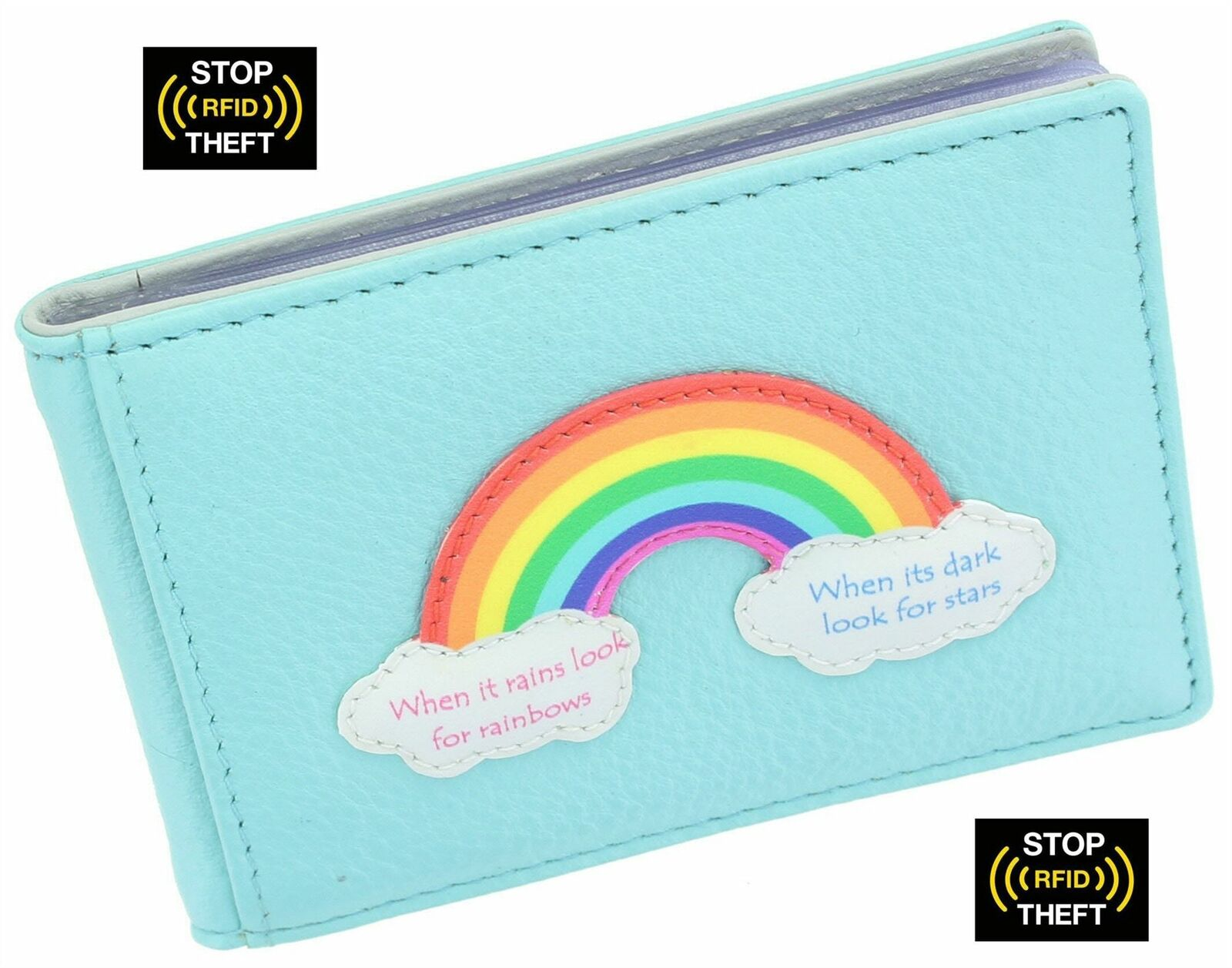 Mala Leather Rainbow Collection Leather Credit Card Holder RFID Blocking 657_49