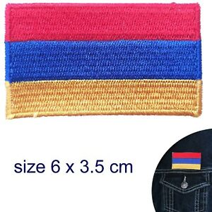 Armenia Flag Patch Iron Sew On Jacket Bag Armenian Embroidered Embroidery Badge