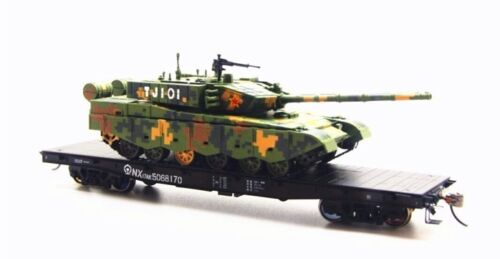Train Garden China Railway NX17AK Flat Cars with Tanks 4 units set HO scale