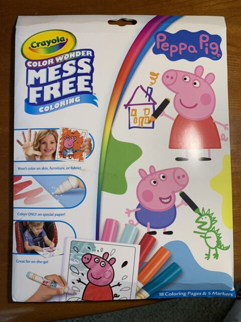 Crayola Color Wonder Mess Peppa Pig - 18 Coloring Pages ...