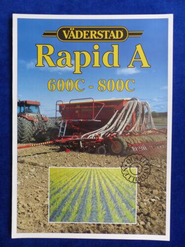 Prospekt Brochure 800C Drillmaschine 0810 Väderstad Rapid A 600C