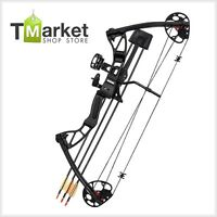 Professional Archery Aluminum Arrows Hunting Target Sport Compound Bow W/ 3-pin