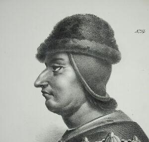 Antique-Print-Louis-Xi-aka-the-Prudent-King-de-France-c1850-Branch-Valois