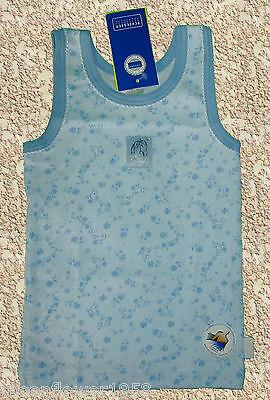 NEU 3 Mädchen Unterhemden im Set Schiesser Pferde Blau Hemd Unterwäsche Girl 92