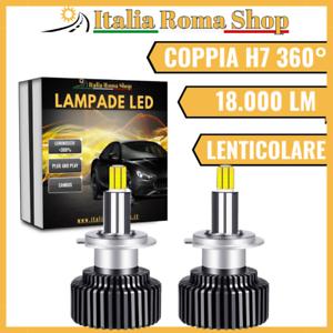 H7 KIT DUE LAMPADE LED 360 GRADI 18000 LM SPECIFICHE PER FARO LENTICOLARE CANBUS