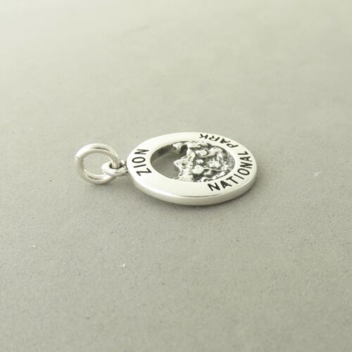 925 Sterling Silver ZION CHARM NEW National Park Utah Virgin River Canyon NP43