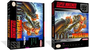 AgréAble Alien Vs Predator Snes Replacement Game Case + Housse Art Work (no Game)-afficher Le Titre D'origine Pure Blancheur