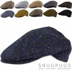 edc6fc9c00e89 PURE 100% WOOL FLAT CAP SHOOTING CAP MADE IN IRELAND TWEED ...