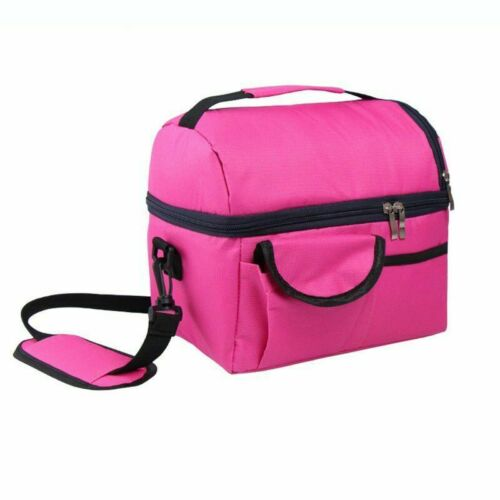Thermal Insulated Lunch Bag Adult Kids Picnic Lunch Box Food Storage Cool Bag UK