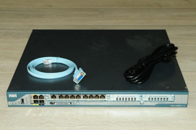CISCO2801 Intergrated Router w/ HWIC-D-9ESW 64MB Flash 256MB DRAM PVDM2-64 IOS15