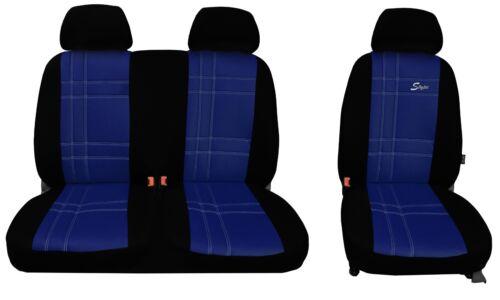 hier in BLAU. Sitzbezüge 1+2 für Peugeot Boxer FL ab 2014 Kunstleder