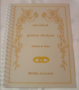 geschenk goldene hochzeit goldhochzeit 50 hochzeitstag g stebuch phoenix ebay. Black Bedroom Furniture Sets. Home Design Ideas