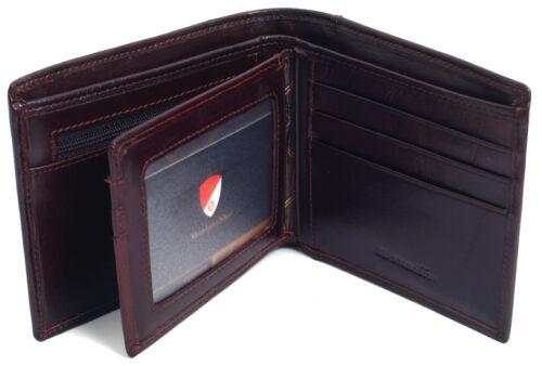 Men/'s Genuine Leather Wallet Credit Card Holders Zipper Coin Pocket Purse