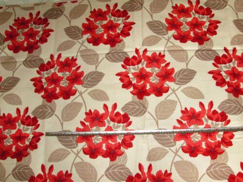 /'Titania/' Red John Lewis UK Maggie Levien Cotton Linen Furnishing Fabric 1.8 mt