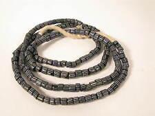Alte Glasperlen blue gooseberry Old Venetian African trade striped beads Afrozip