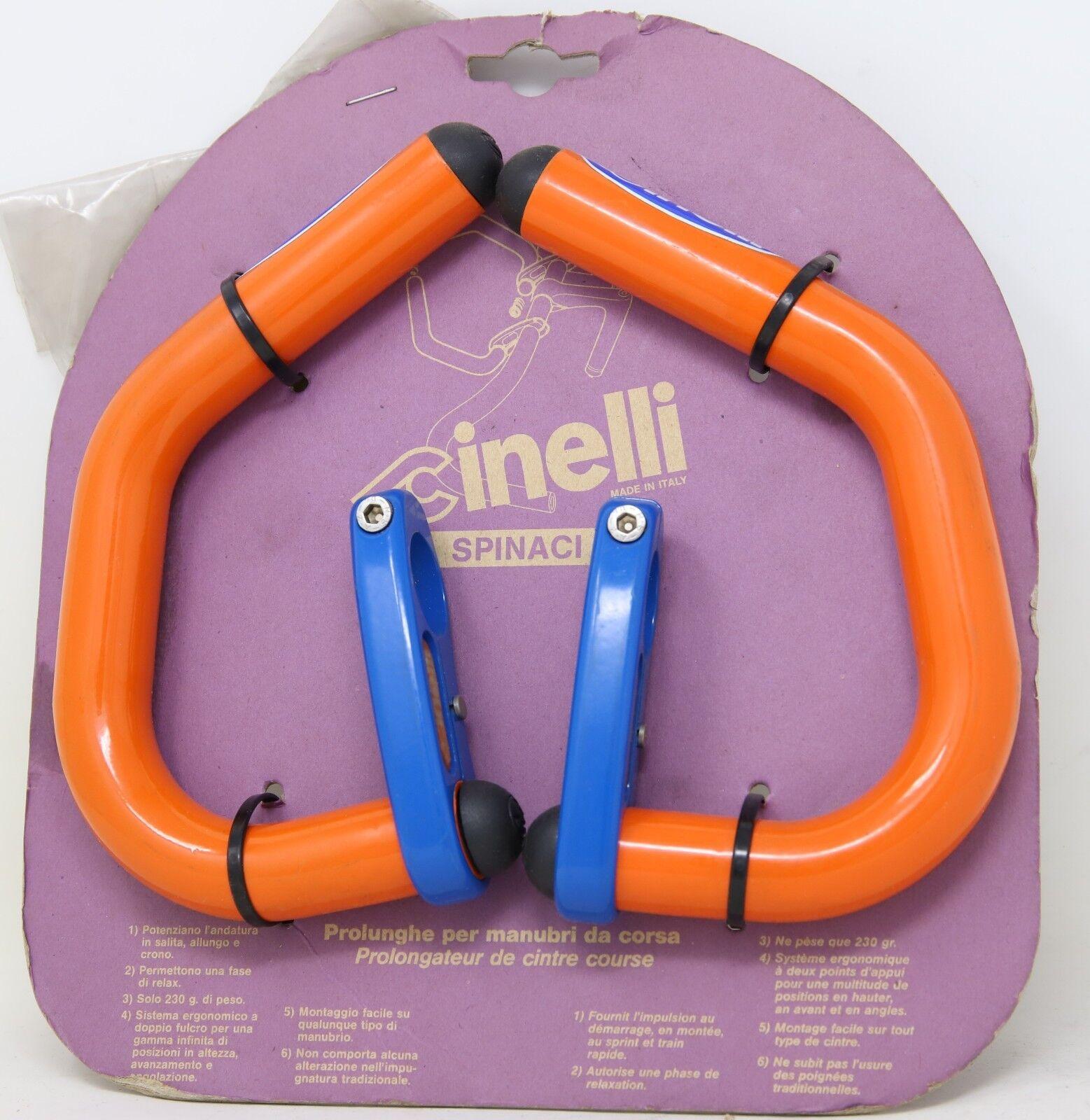 Nos Cinelli SPINACI Bar extensiones Aero megáfono, 90S Azul Vintage naranja