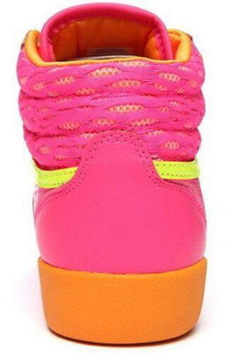 Pink//Orange Leather Casual HI-Top Shoes REEBOK M46765 FREESTYLE HI Jr/'s M