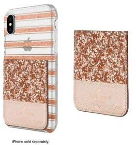 official photos 90e5b 79690 Details about Kate Spade New York Sticker Pocket Rose Gold for Phone Cases  Samsung iPhone LG