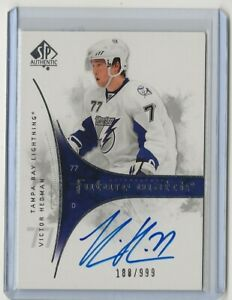2009-2009-10-SP-Authentic-Future-Watch-202-Victor-Hedman-Auto-Rookie-188-999