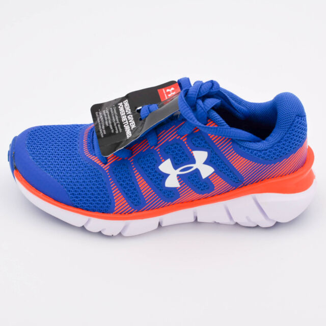 orange and blue under armour shoes