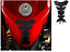 ADESIVO-PROTEGGI-SERBATOIO-MOTO-NERO-FREE-STYLE-PARASERBATOIO-IN-CARBONIO miniatuur 2