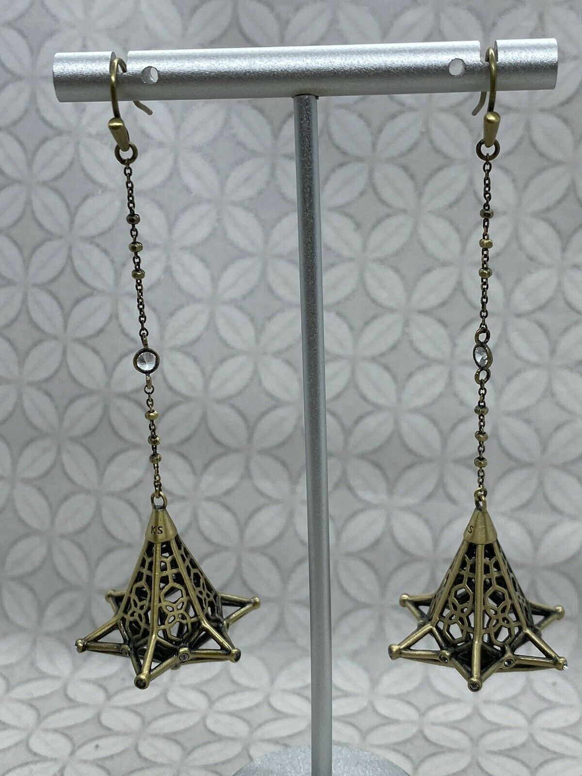 Kendra Scott Diana duster long dangle earrings an… - image 1