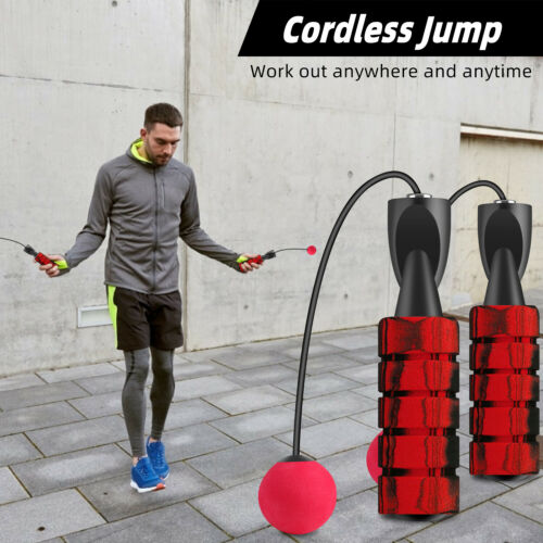 Adjustable Ropeless Weighted Jump Rope Cordless Skipping Exercise Weight Loss US