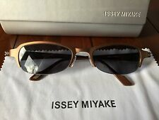Issey Miyake Bronze Oval Sunglasses Model IM008 With Case & Cloth RRP £200!