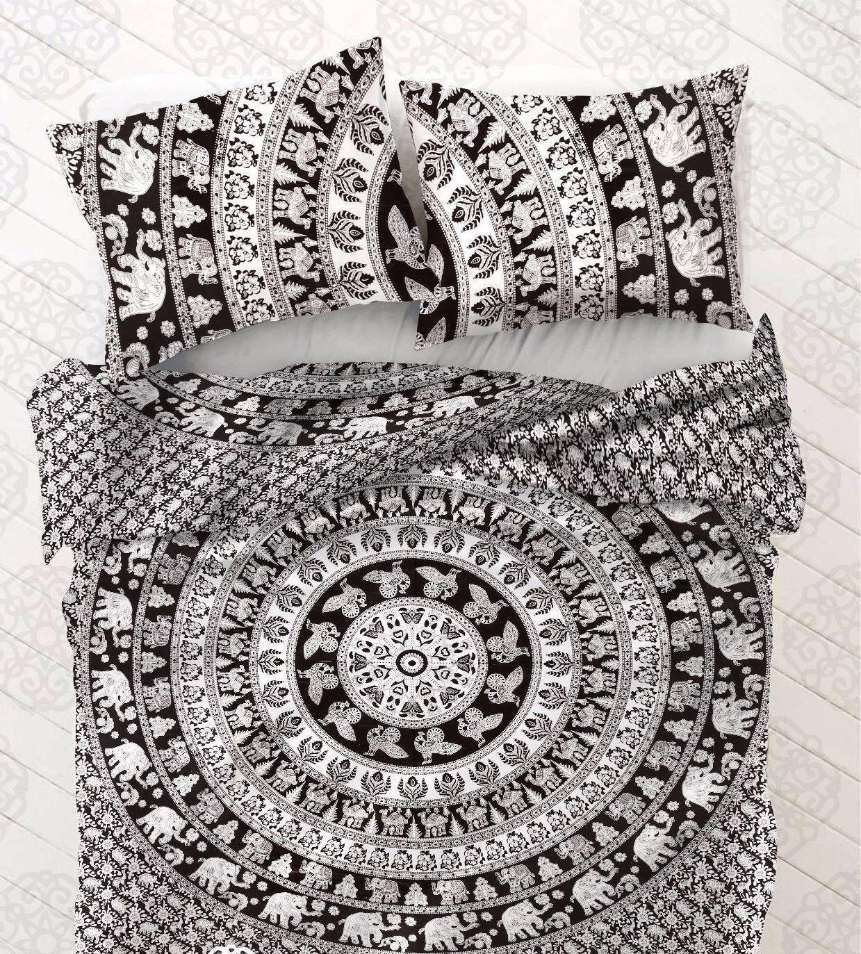 Indian Mandala Duvet Doona Cover Hippie Bohemian Twin Quilt Cover Comforter Set