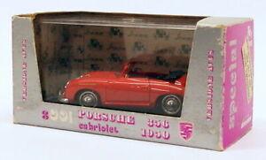 Brumm 1/43 SCALA DIECAST MODELLO AUTO S001 - 1950 PORSCHE CABRIOLET-Rosso