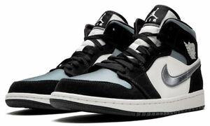 Details about Air Jordan 1 Mid SE 'Satin' Black/Smoke Grey/Sail 852542-011 Size 10.5/11 NWT