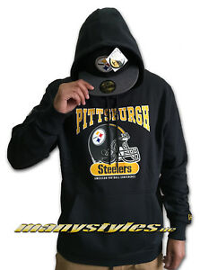 huge selection of 98130 5511d Details about New Era Aparell Pittsburgh Steelers NFL Hooded Sweater Archie  Hoody Sweatshirt
