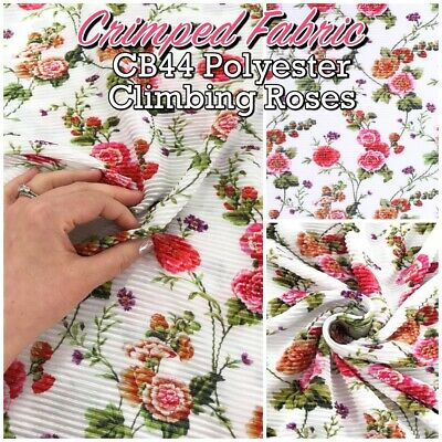 Printed Satin-feel Silky Polyester Dressmaking Fabric flowers spots paisley