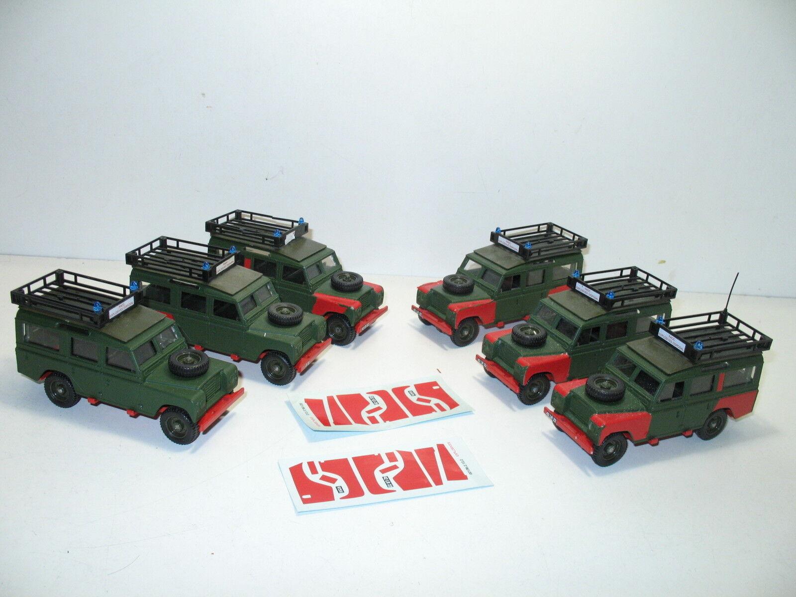 SOLIDO, Land Land Land rover 109 disposición explosiva, militar UK 6d8327