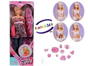 STEFFI-LOVE-WELCOME-BABY-PREGNANT-DOLL-POUPEE-ENCEINTE-11-1-2-29CM-BARBIE-NEW