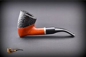 HAND-MADE-WOODEN-TOBACCO-SMOKING-PIPE-no-68-Tomahawk-Rustic-Orange-Filter
