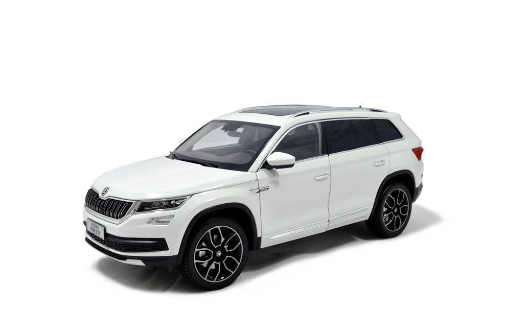 1 18 1 18 Scale Skoda Kodiaq SUV 2017 White Diecast Model Car Paudimodel