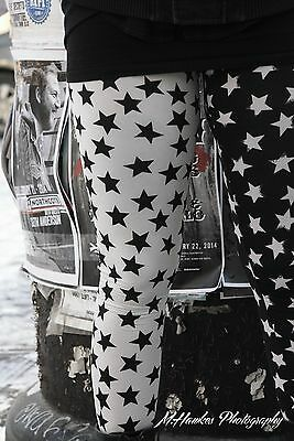 leggings NEW ladies black and white galaxy star women printed Made in USA