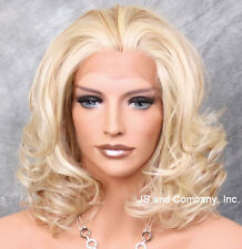 HEAT SAFE Lace Front Wig med. Wavy  Realistic Blonde mix kn 613-27