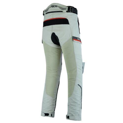 MOTO da Donna Estate Pantaloni Grigio-Nero Moto Roller ariosi tessile Pantaloni Nuovo