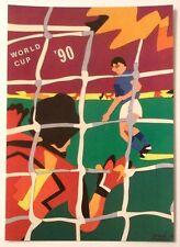 Cartolina Mondiali Di Calcio Italia 90 Ugo Nespolo - Genova (Stadio Ferraris