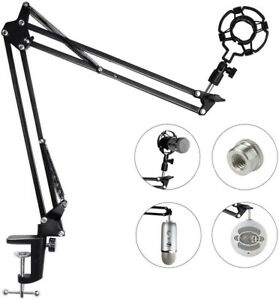 Microphone-Arm-Stand-For-Blue-Yeti-Snowball-Microphone-Adjustable-Boom-Mic-Clip