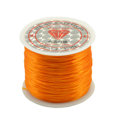 50M starkes elastisches Schnur Drahtseil Armband Halsketten Schnur Korn 0.5mm ZP
