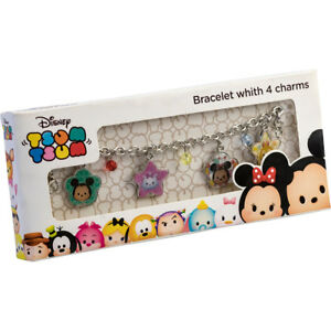 4e12a9f8bedaa Details about Disney Tsum Tsum Metal Bracelet With 4 Charms Gift Box Girls  Childrens Kids