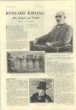 1928 Rudyard Kipling, School And Youth, Home, Caricatured