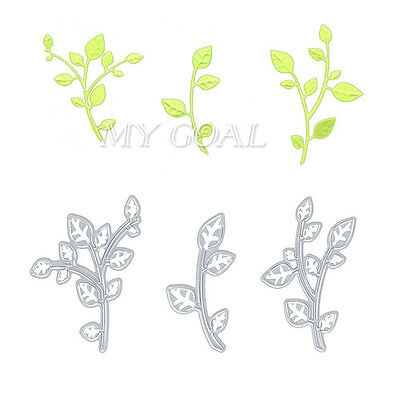 3pcs Leaves Cutting Dies Stencil Scrapbook Embossing Paper Card Craft DIY Gift