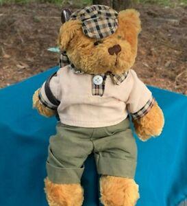 Beautiful-Golfer-Teddy-Bear-w-Golf-Bag-9-034-Plush-Stuffed-Animal-Toy