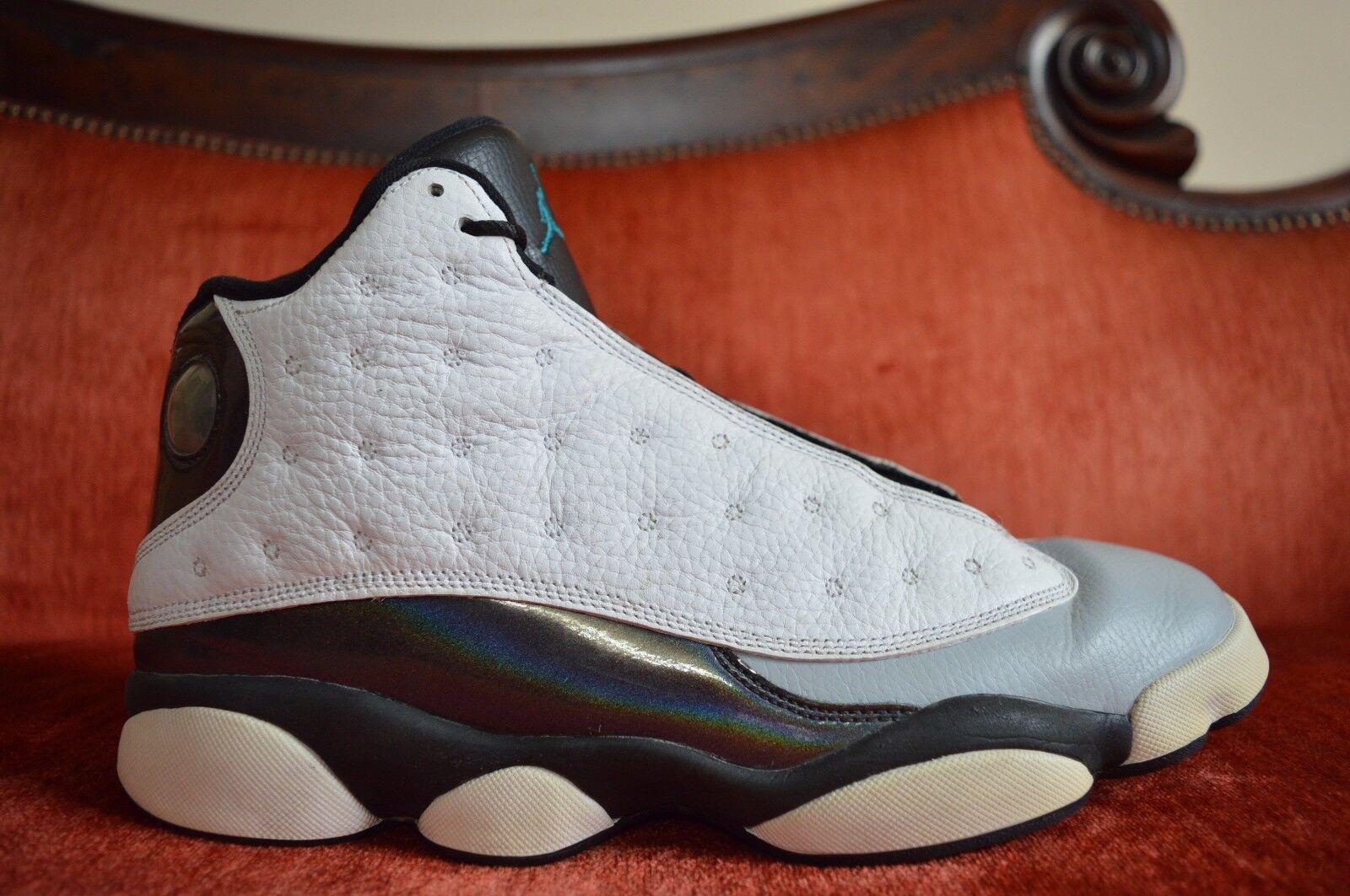 Nike Air Jordan Retro 13 Hologram Barons White Grey Teal Black 414571 115 11