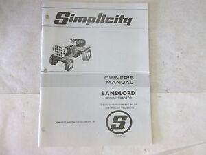 simplicity landlord riding tractor 3 speed transmission mfg no 755 rh ebay com simplicity sunstar 20 owner's manual simplicity 38 dehumidifier owner's manual